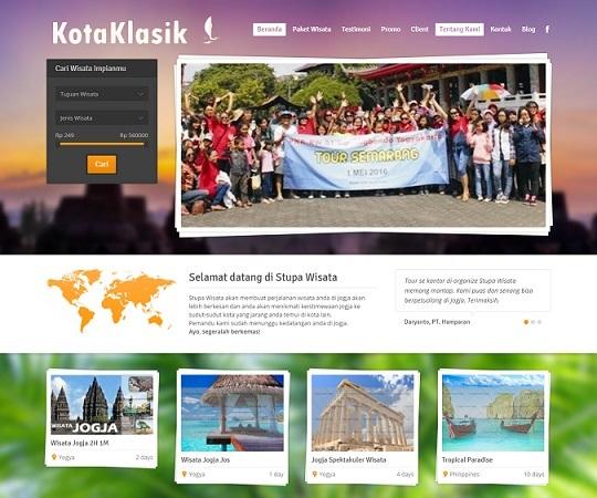 Jasa pembuatan website tour dan travel