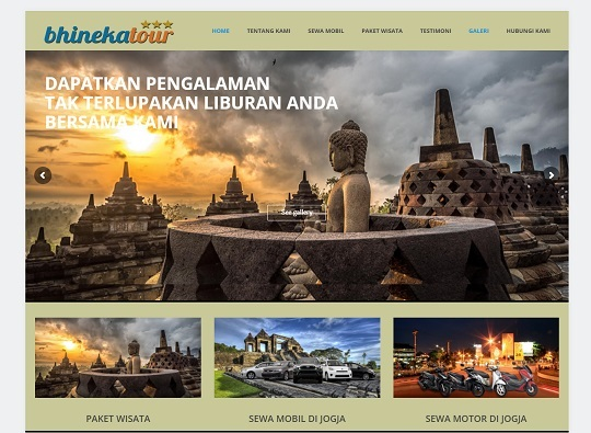 jasa pembuatan website wisata tour dan travel murah profesional